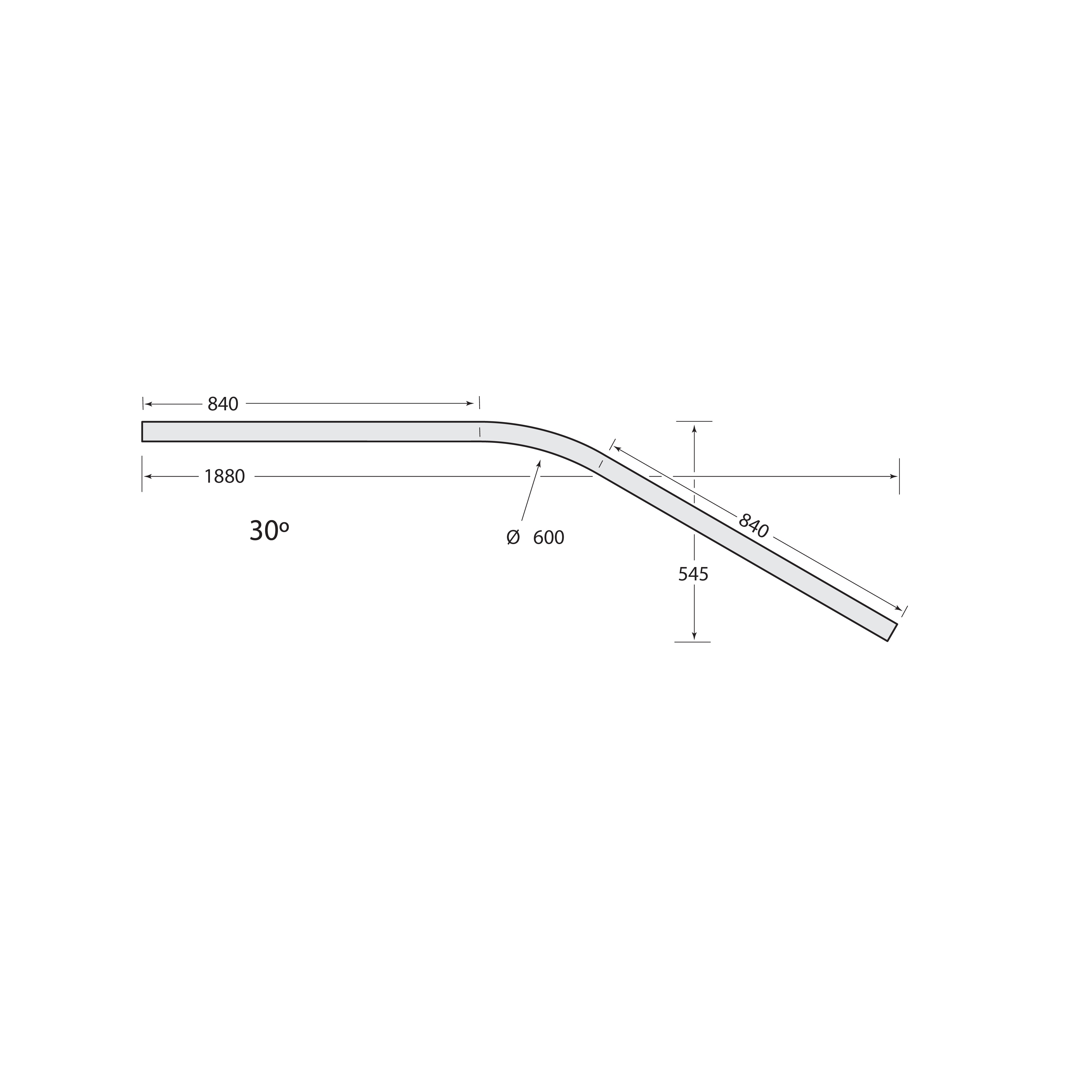Multirail Track Bend 30°